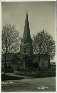 St. Mary the Virgin, Bampton, Oxfordshire, postcard by Fred C Palmer