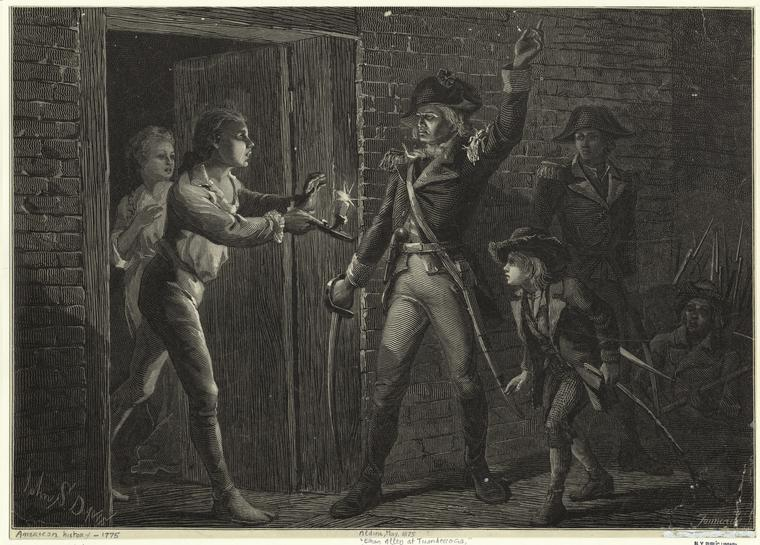Ethan Allen at Ticonderoga, New York Public Library Digital Collections